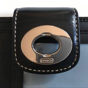 Coach Bags - Coach Heritage Black Small Wallet AUTHENTIC EUC